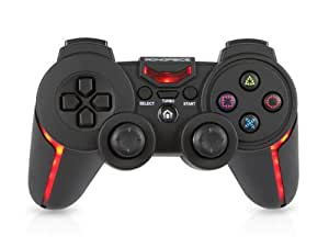 Monoprice Pro Bluetooth LED Turbo Gamepad for Playstation 3 and PC - Black