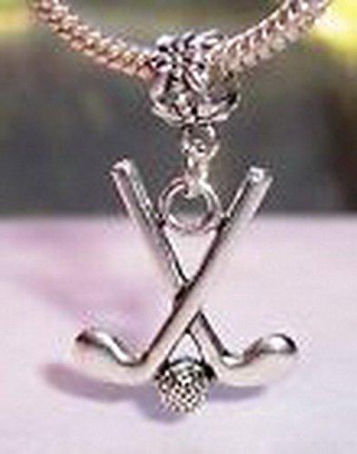 Glamorise Beads #14289 Golf Golfer Gift Club Ball Sports Dangle Bead for Silver European Charm Bracelet
