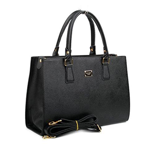 Copi Women's Simple Box Tote Handbag and Shoulder purse, Crossbody Bags Black