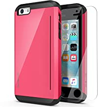 iPhone 5C Case,OBLIQ [Skyline Pro][Pink] with HD Screen Protector-Kickstand Fit Bumper Scratch Resist Metallic Finish Dual Layered Heavy Duty Hard Protection High Quality Clear Case for Apple iPhone5C