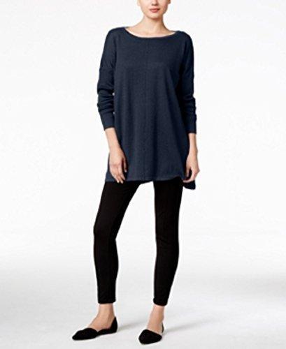 Boatneck Dolman Sleeve - Style & Co. Womens Boatneck Dolman Sleeve Tunic Sweater Navy L