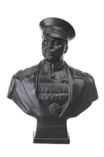 Soviet Russian USSR Marshal Georgy Zhukov Stone Bust Statue Sculpture 8.7''