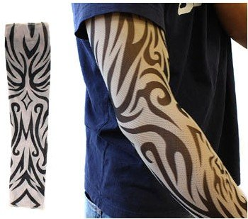 4pk Tattoo Elastic Arm Sleeves Cooling Athletic Sport Skins Sun
