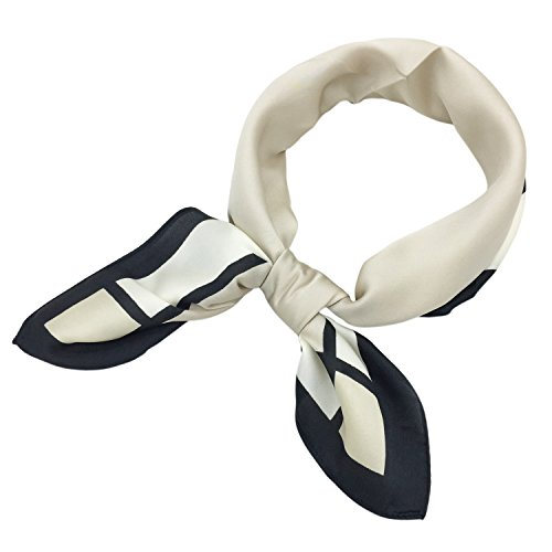 - YOUR SMILE Silk like Scarf Women's Fashion Pattern Large Square Satin Bandanas Headscarf Headdress 24''x24'' (109)