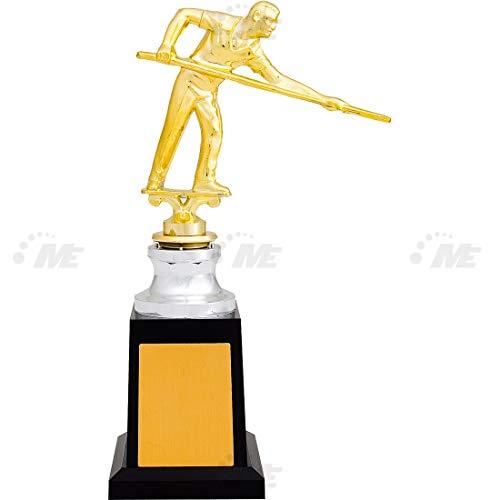 AX Esportes Troféu Bilhar 30cm, Dourado