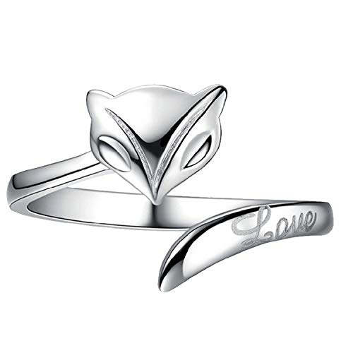 jiajiastores 100% 925 Sterling Silver Engagement Ring Sparkling Moon and Star Finger Rings for Women Fashion Jewelry,Resizable,R-s031