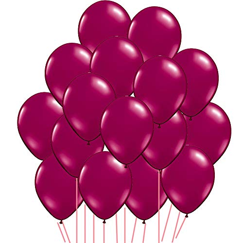 12 inch Burgundy Latex Balloons for Birthday Bridal Shower Wedding Anniversary Celebration Party Decorations, Pack of 100