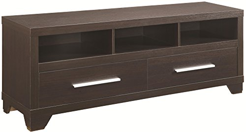 Coaster Home Furnishings 2-Drawer TV Console with 3 Storage Compartments - Finish Tv Stand Cappuccino
