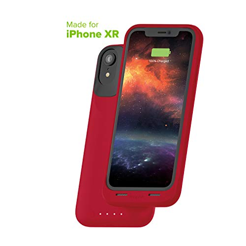 mophie Juice Pack Air - Mfi Certified - Wireless Charging - Protective Battery Pack Case for Apple iPhone XR - Red