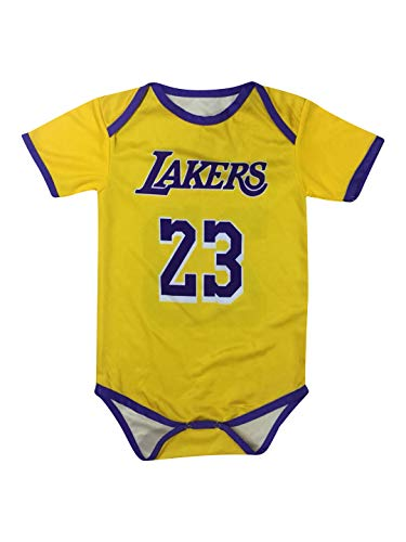 cheap for discount 19049 7dd70 Icer Brand James Basketball Baby Romper Jersey Lebron Infant Toddler  Onesies Pack of 2 Home & Away Jersey Design Bundle Premium Quality (3-6 mo,  Pack ...
