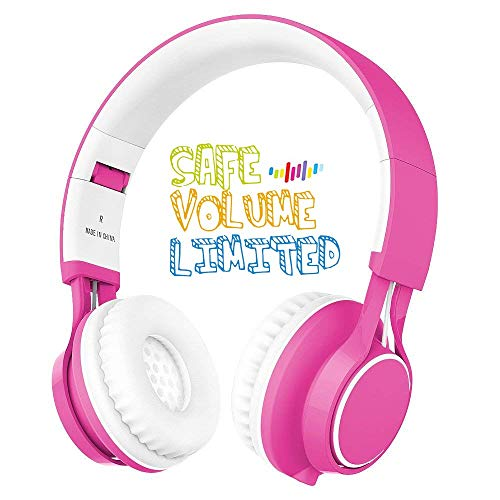 - Kids Headphones, HD30 Volume Limiting Children Headset with Microphone for Girls Boys and Tablets Computer Laptops IOS Android Smartphone (White/Pink)