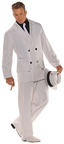 UHC Men's Smooth Criminal Outfit Gangster Fancy Dress Halloween Costume, OS (42-46)