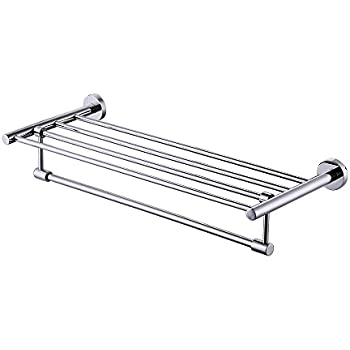 kes a2115 bathroom minimalist towel rack shelf with foldable towel bars wall mounted polished sus304