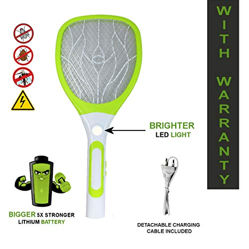 Viola Mosquito Racket/Bat Rechargeable with Torch and Detachable Wire Charging