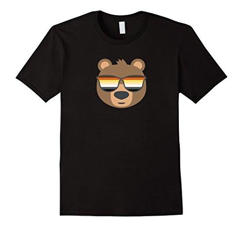 Mens Gay Bear Wearing Bear Pride LGBTQ Flag Sunglasses T-Shirt 3XL - Sunglasses Wearing Bear