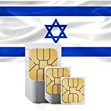 Israel Prepaid Data Sim Card 5GB for 30 Days in 71 Countries 3G Nano/Micro/Standard (Renewed)