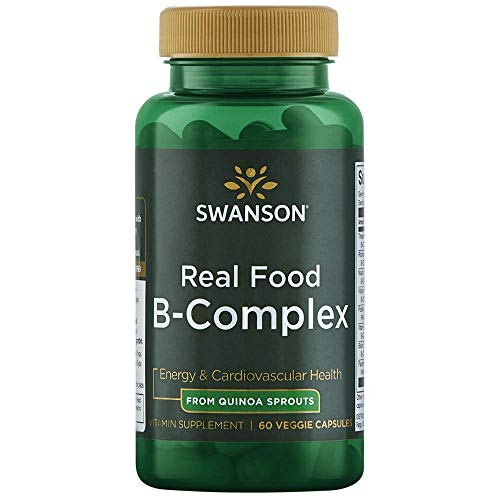 Swanson Real Food Vitamin B-Complex 60 Veg Capsules