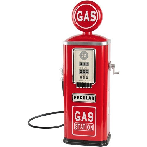 - Constructive Playthings Retro Steel Gas Pump Replica with Sound Effects for Ages 3 and Up