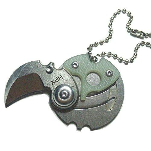 Coin Knife Small folding knife EDC gadget (Jade) HPX