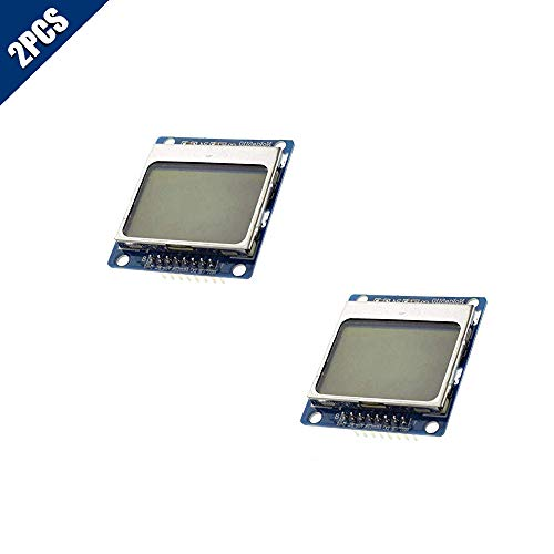 KOOBOOK 2Pcs 84X48 for Nokia 5110 LCD Display Blue Screen Module for Arduino
