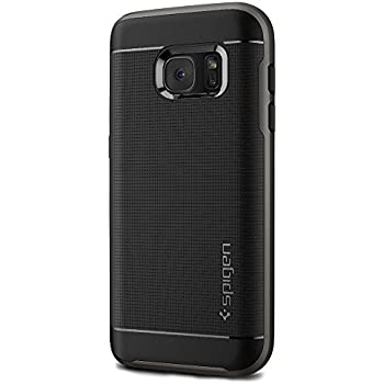 Spigen Neo Hybrid Galaxy S7 Case with Flexible Inner Protection and Reinforced Hard Bumper Frame for Samsung Galaxy S7 2016 - Gunmetal