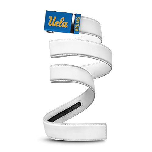 NCAA UCLA Bruins Mission Belt, White Leather, Small (up to 32)