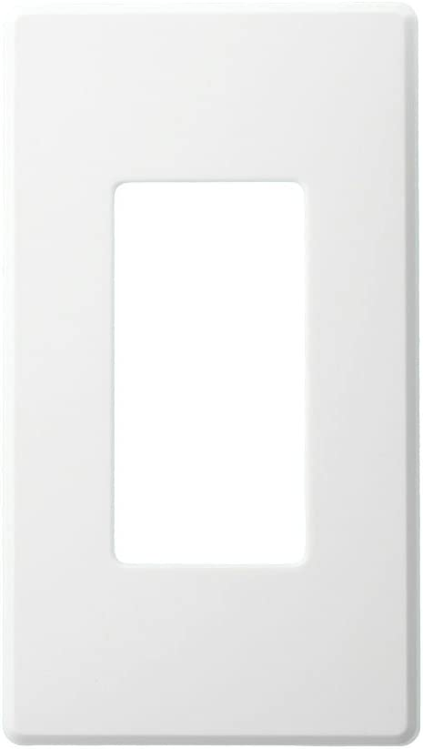 Leviton AWP0F-10W Wallplate for Renoir II Architectural Wall Box Dimmer, Fins Left On, 1 Narrow Dimmer Supported, White