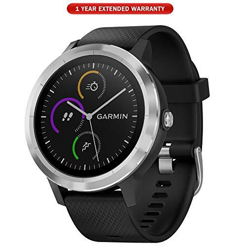 - Garmin 010-01769-01 Vivoactive 3 GPS Fitness Smartwatch (Black & Stainless) + 1 Year Extended Warranty