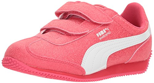 Price comparison product image PUMA Girls' Whirlwind Glitz V Sneaker, Paradise Pink White, 3.5 M US Big Kid