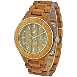 Wood Mark ZS-W1000A Mens Voyager Zebra wood Watch