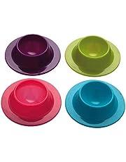 4 Pcs Silicone Egg Cups In Modern Design Holders Set Serving Kitchen Boiled Eggs Breakfast Random Color HighDurable DesignFashion