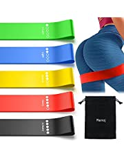 Resistance Bands, Exercise Workout Bands for Women and Men, 5 Set of Stretch Bands for Booty