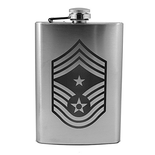 Chief Master Of The Air Force - 8oz Air Force Rank - Command Chief Master Sergeant - Flask L1