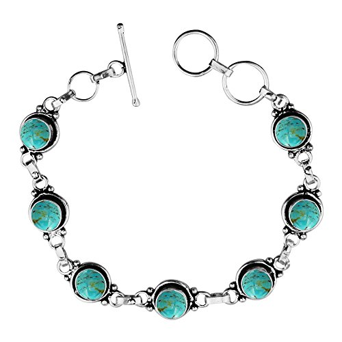Turquoise Silver Overlay (12.50Gms,4.50 Ctw Genuine Turquoise 925 Sterling Silver Overlay Handmade Fashion Bracelet Jewelry)