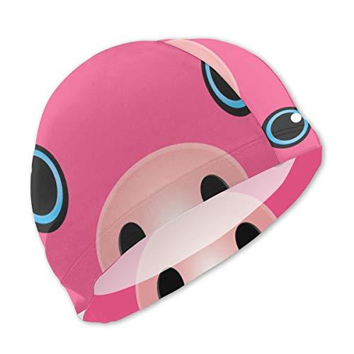 KIDS Pig Face Cute Funny Animal Halloween Costume Lycra Swim Caps Swimming Cap Swimming Hat Bath Caps Children Boys Girls with Long -