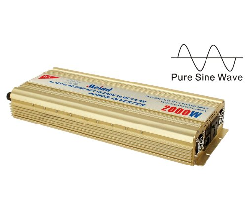 Pure sine wave Power inverter 2000 Watt peak 4500 W converter from 12 V DC to AC 220 Volt battery charge function (Input AC100V- 230V to output DC 13.8V )
