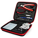 Kangaaly DIY Coil Tool Kit Wire Cutter Tweezers Screwdriver Coil Winder Kit Ohm Tester Case