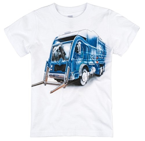 Shirts That Go Little Boys' Recycle Truck T-Shirt 4 White