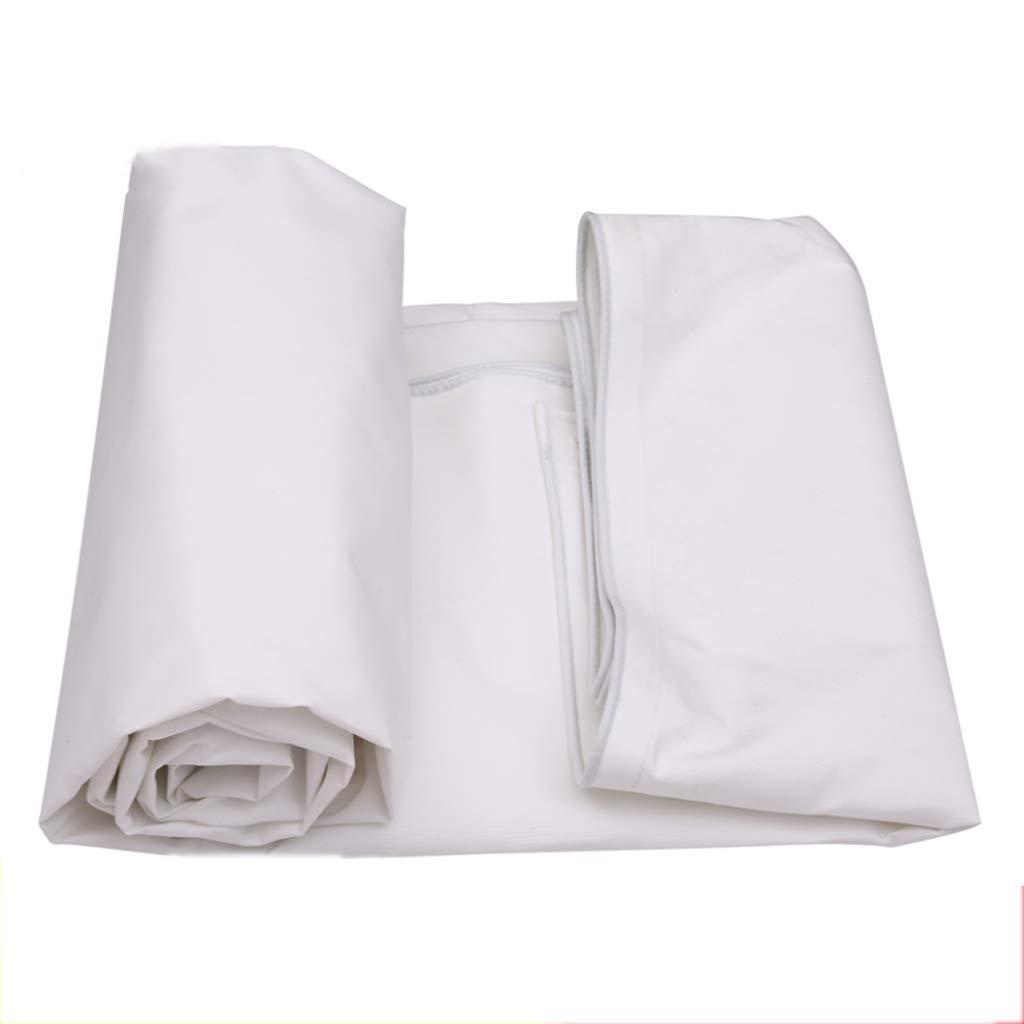 防水布、白防水日焼け止めターポリン屋外シェルターターポリン、マルチサイズ 4*5m  B07JXRY4SX