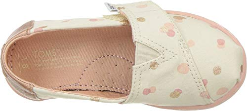 TOMS Kids Baby Girl's Alpargata (Infant/Toddler/Little Kid) Pale Blush Party Dots 2 Infant M