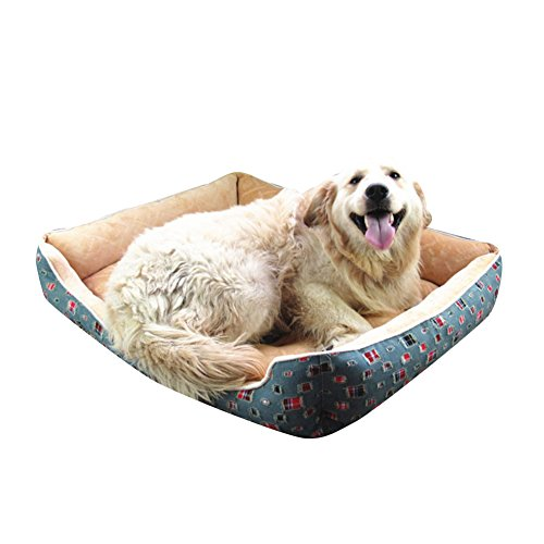 Cama de Perrera Casa Rectángulo para Mascotas Cama de Gato Tamaño Disponible Beige: Amazon.es: Productos para mascotas