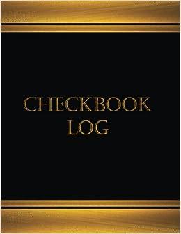amazon com checkbook log journal log book 125 pgs 8 5 x 11