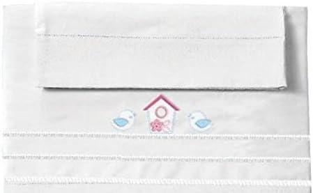 Manterol Baby Happy Juego de sábanas para cuna de 60 x 120 cm 100 ...