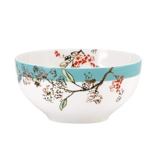 Lenox Simply Fine Chirp 4-Piece Dessert Bowl Set (Bone China Fine China Dinnerware Set)