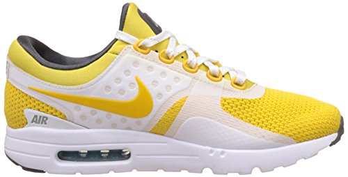 Nike Mens Air Max Zero Qs Scarpa Da Corsa Bianco / Vivido Zolfo