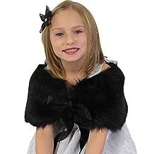 Girls faux fur shawl Black Size Large