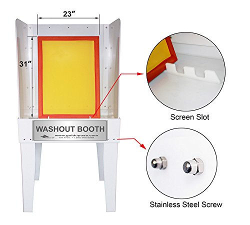 Screen Printing Washout Booth by Gold-Up
