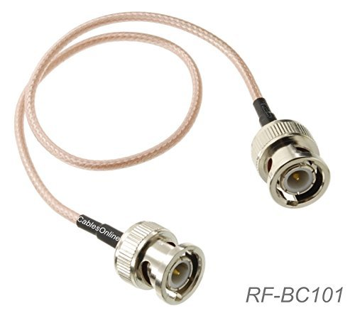 CablesOnline, 1ft. BNC Male to BNC Male RG316 Coax Low Loss RF Cable, RF-BC101 -