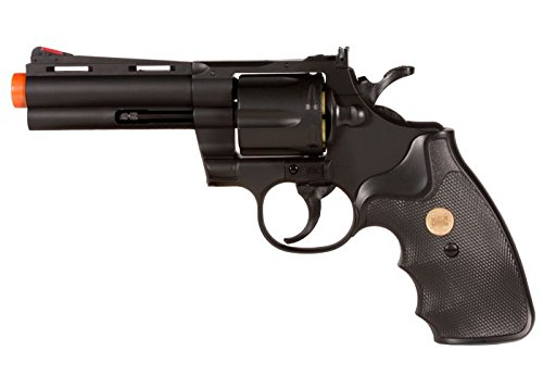 Magnum 357 Airsoft - TSD Sports UA937B 4 Inch Spring Powered Airsoft Revolver (Black)