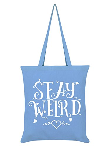 Stay Weird Tote Bag Sky Blue 38 x 42cm